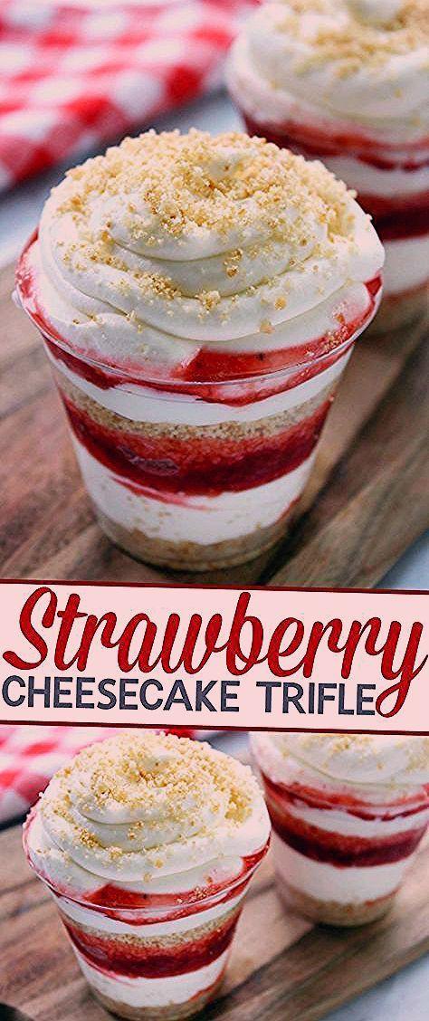 Photo of Strawberry Cheesecake Trifle – Life Love Liz