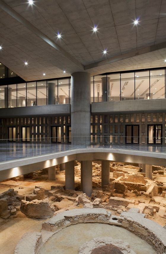 New Acropolis Museum..., Athens, Greece, built above working excavations and at the foot of the Acropolis, this building beautifully respects its ancient roots.