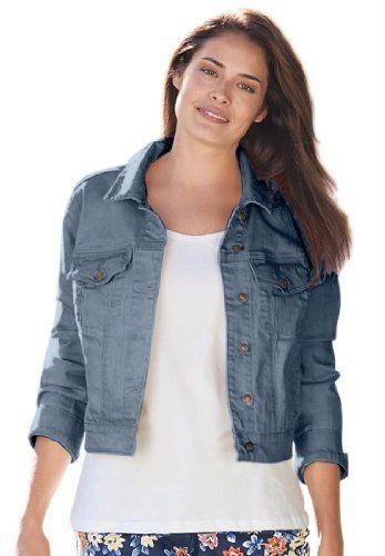 Woman Within Plus Size Jacket, Cropped Length, Stretch Denim And Twill (Antique Sandblast,12 W) Woman Within, http://www.amazon.com/dp/B005PXXGDA/ref=cm_sw_r_pi_dp_iFHarb1VDHQK3