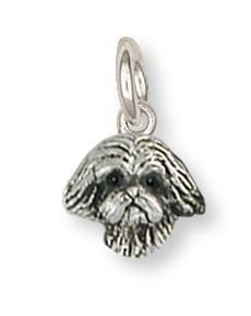 Shih Tzu Charm Handmade Silver Shih Tzu Jewelry Sz22h C Puppies