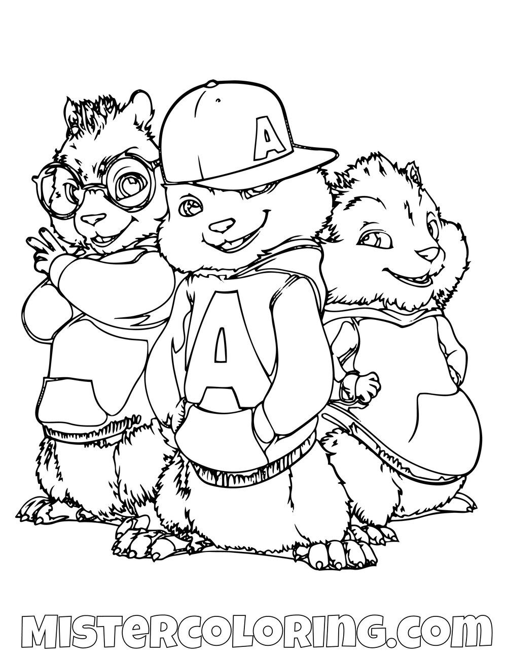Simon Alvin And Theodore Hip Hop Posing Alvin And The Chipmunks