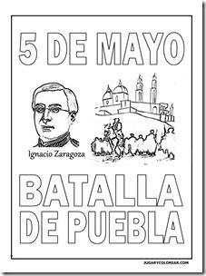 Colorear 5 De Mayo Batalla De Puebla Para Ninos Jugar Y Colorear 5 De Mayo Planisferio Con Nombres Batallas