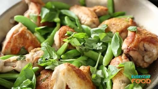 Grilled chicken in vinegar sauce and snap peas video dailymotion everyday food editor sarah carey cooks up a simple one skillet meal and shows you how to ensure the chicken is browned well yet perfectly tender forumfinder Gallery