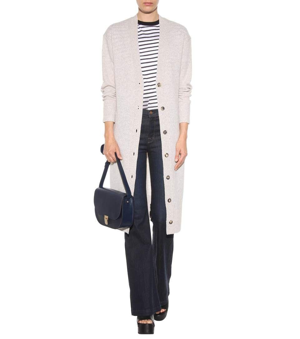 Dunkelblaue High-Rise Flared Jeans Maria