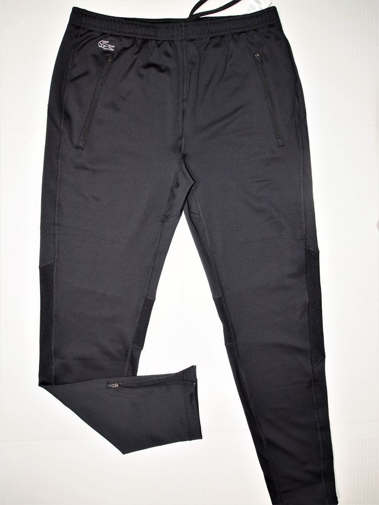 4ef67deb2934 Lacoste men s performance track tight men s pants US size XL EU size 6 black   Lacoste  ActivewearPants