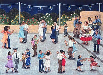 Carmen Lomas Garza- Baile. | español- artista- Carmen Lomas Garza ...
