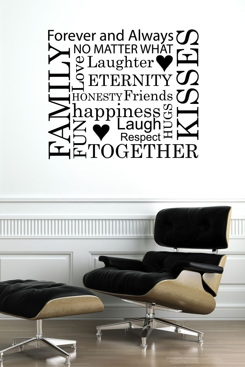 Decals That Dazzle - Family Word Jumble Wall Decal $15.00