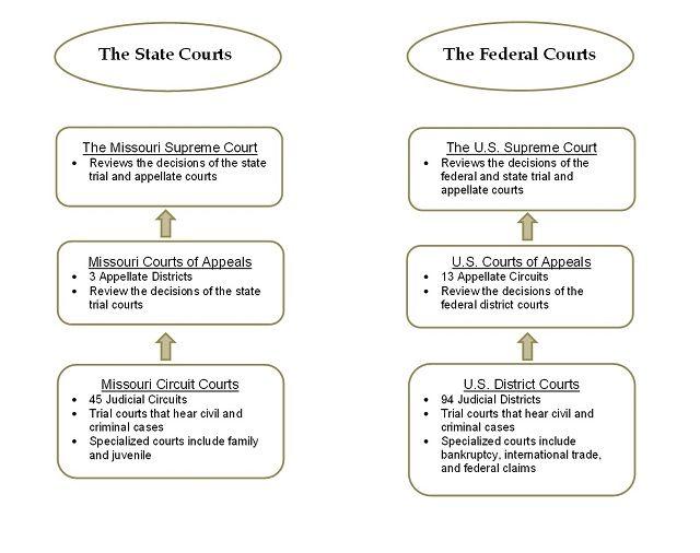 Dual Court System Diagram   High School   Pinterest   Federal ...