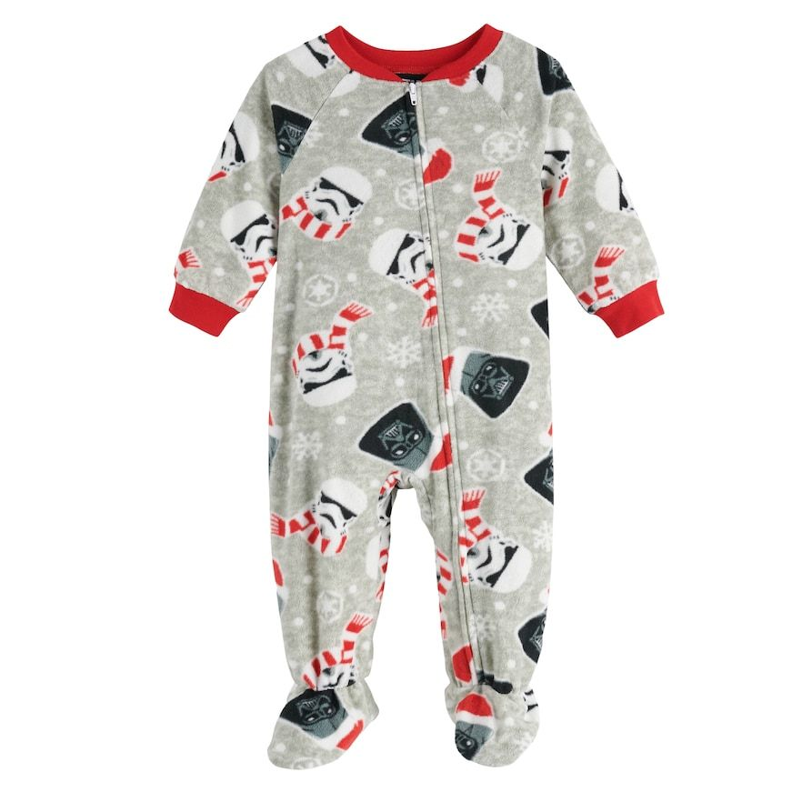 Baby Jammies For Your Families Star Wars Footed Pajamas Infant Boy S Size 12 Months Foot Pyjamas Baby Girl Clothes Pajamas