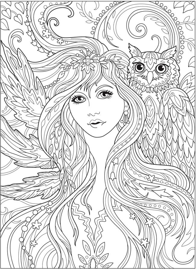Welcome To Dover Publications Fairy Coloring Pages