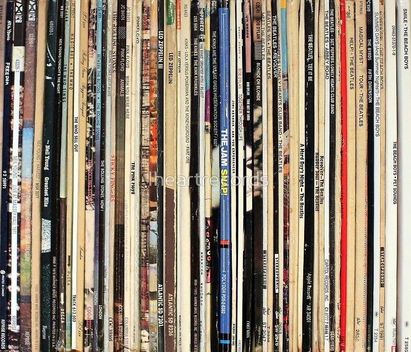 Classic Rock Vinyl Records | Poster in 2019 | Grainy Texture