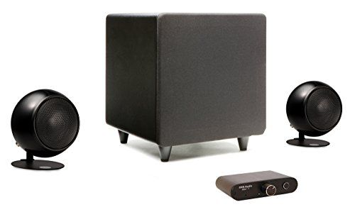 Orbs Mini 2 1 System Is Perfect For Any Small Room Adding Sound For Your Tv Or Pc And As A Starter For Buildi Stereo Speakers Speaker System Computer Speakers