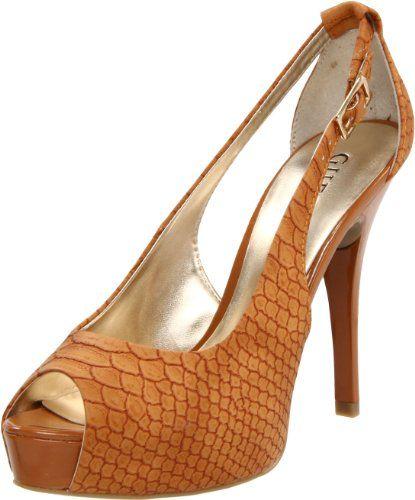GUESS Women's Hondo3 Open-Toe Pump -  #PlatformShoesForWomen