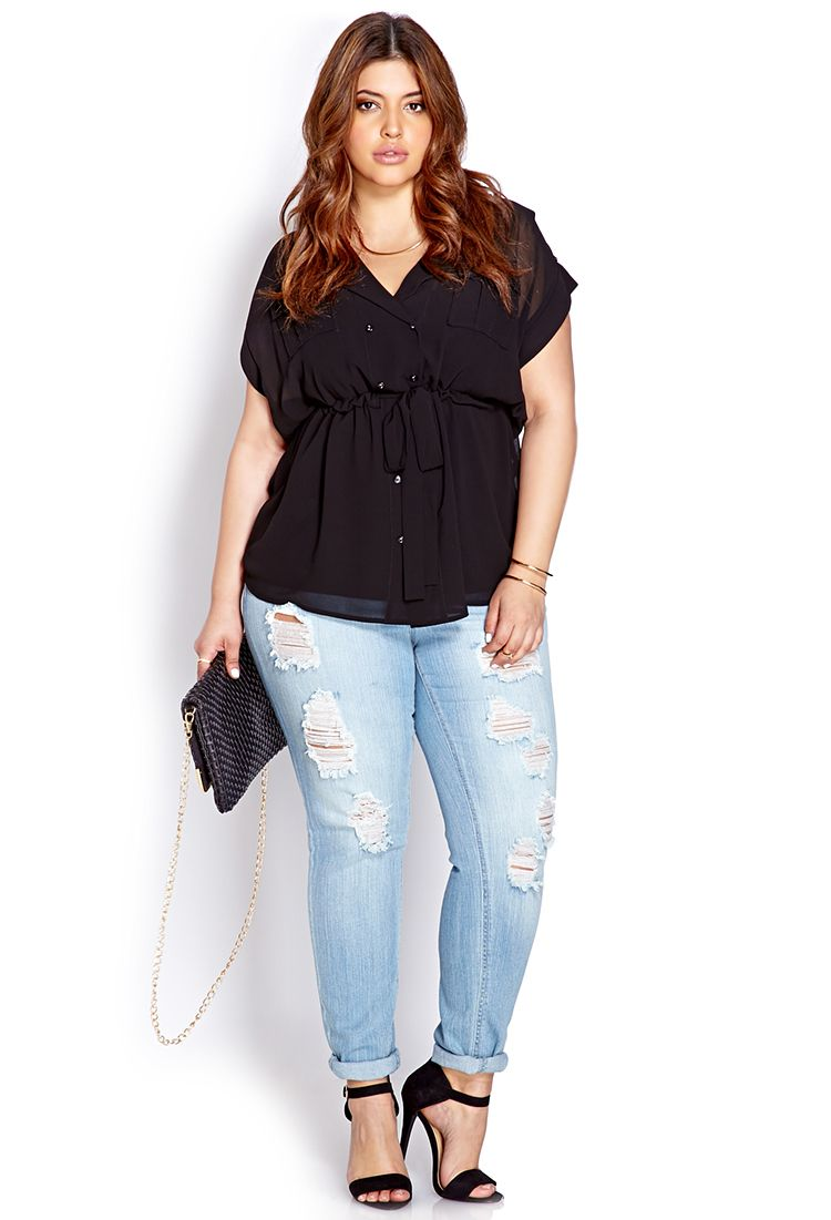 sophisticate double-breasted top | forever21 plus - 2000064159