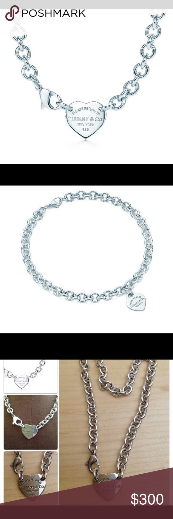 "3ebb52cbb2c9 Spotted while shopping on Poshmark  Tiffany   CO. 14"" Heart Tag Choker!   poshmark  fashion  shopping  style  Tiffany   Co.  Jewelry"