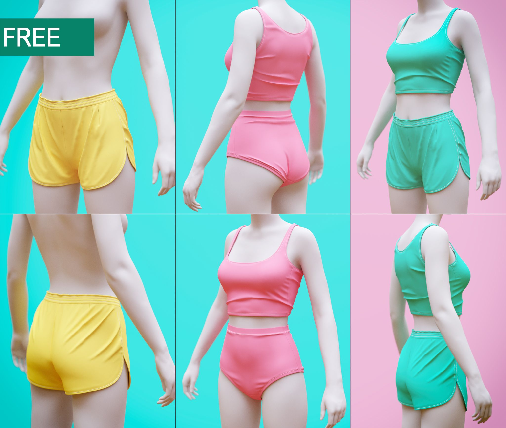 Women\'s Shorts and Undergarment | CG WIPs | Pinterest | Characters