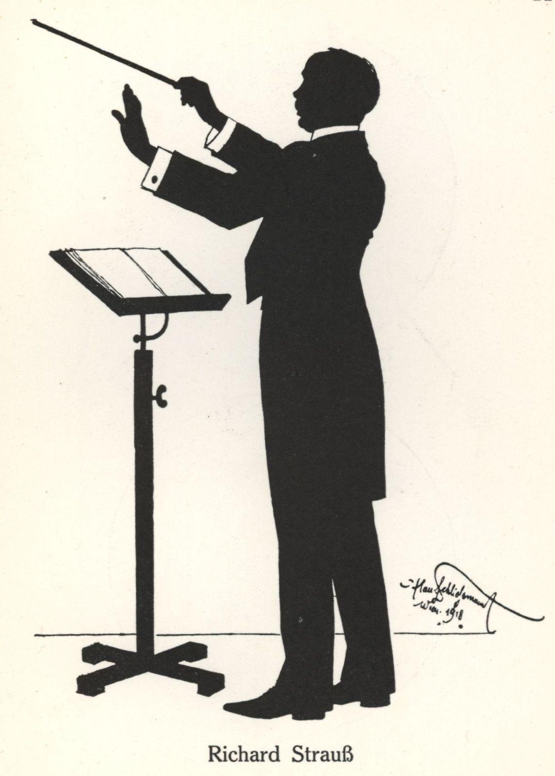 Richard Strauss 1864 1949 Silhouette 1918 By Hans Schliessmann 1852 1920 Creative Artists Mood Board Artist
