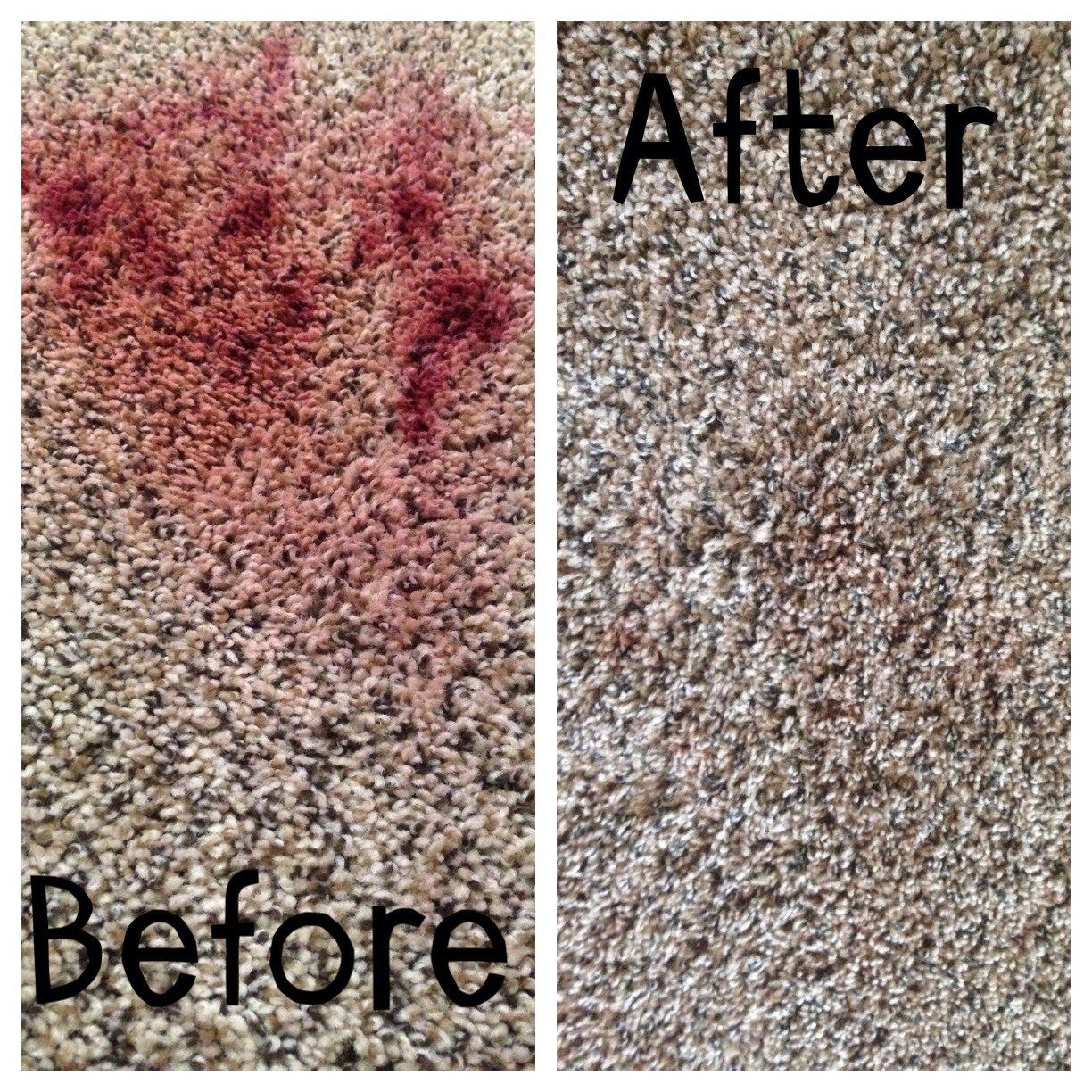 How to remove red lipstick from your carpet with common