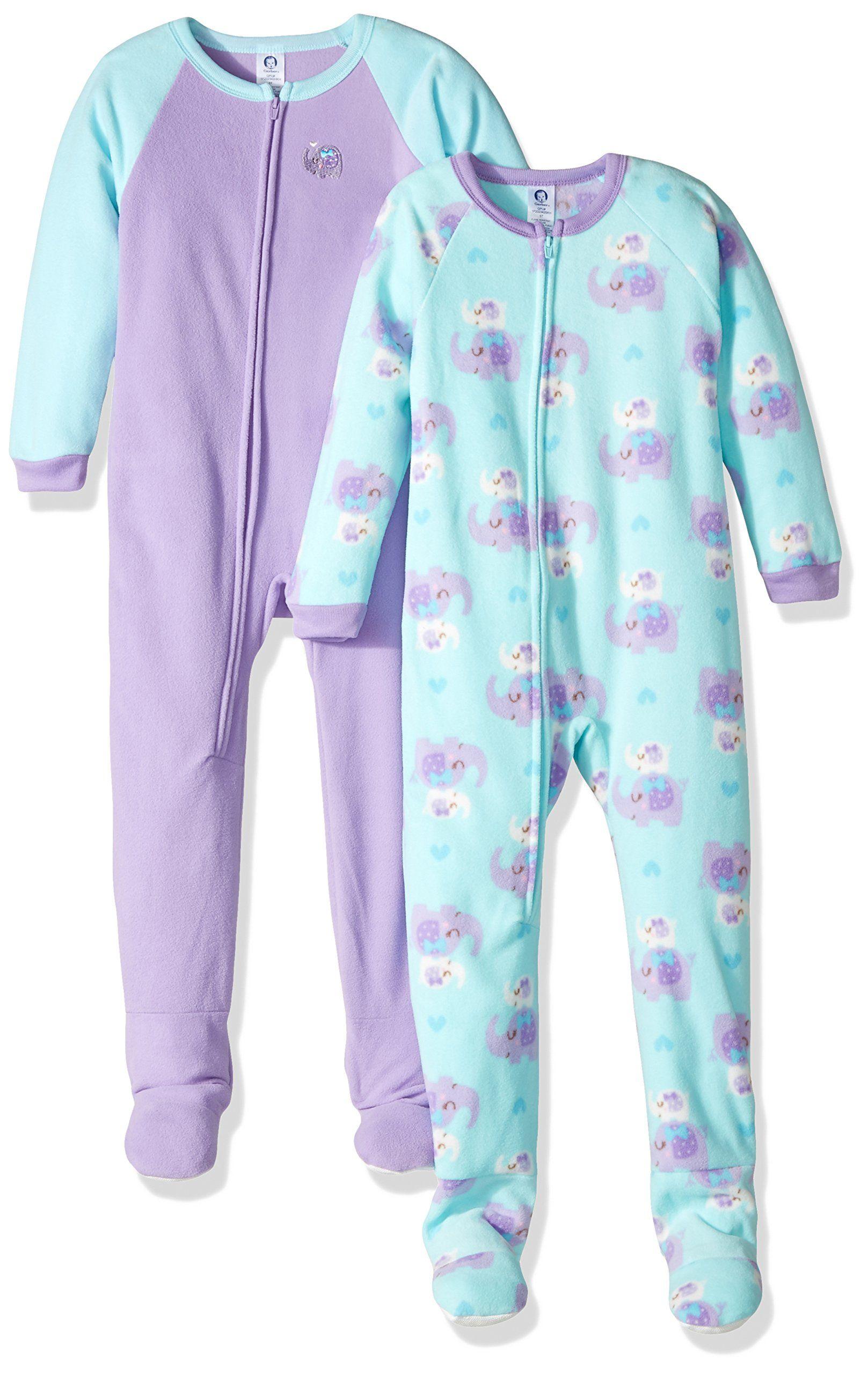 befbf278c Gerber Toddler Girls 2 Pack Blanket Sleeper