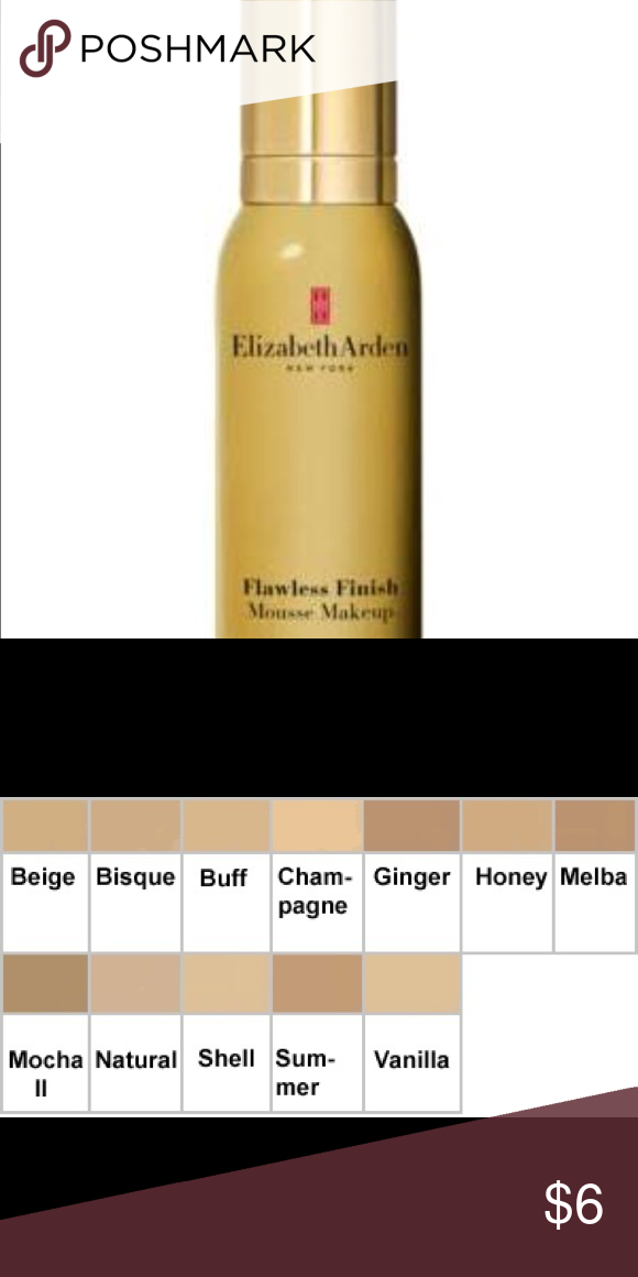 Elizabeth Arden Flawless Finish Mousse Makeup MOCHA II 1.4
