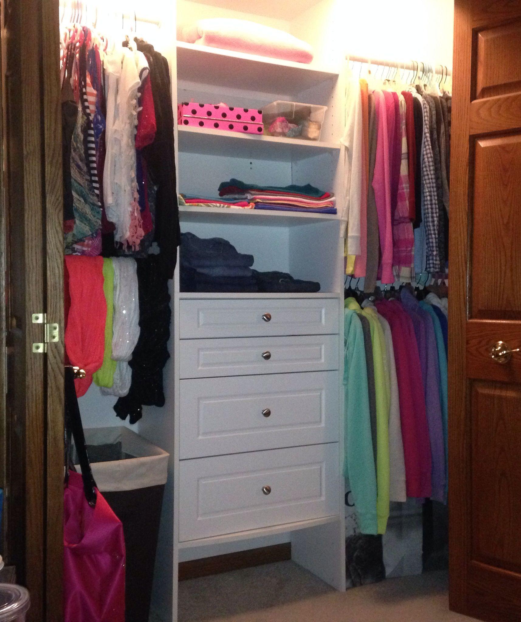 The 25 best teen closet organization ideas on pinterest Bedroom organization ideas pinterest