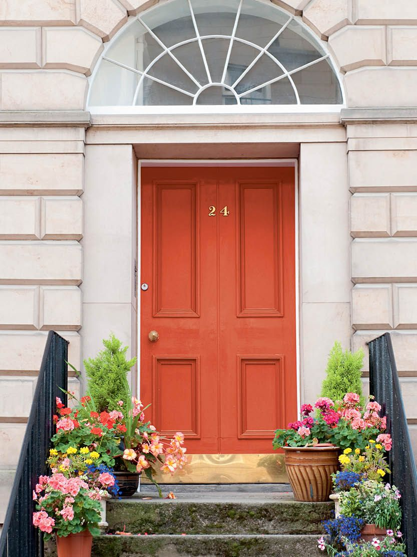 Pep up your front steps with some orange zest.