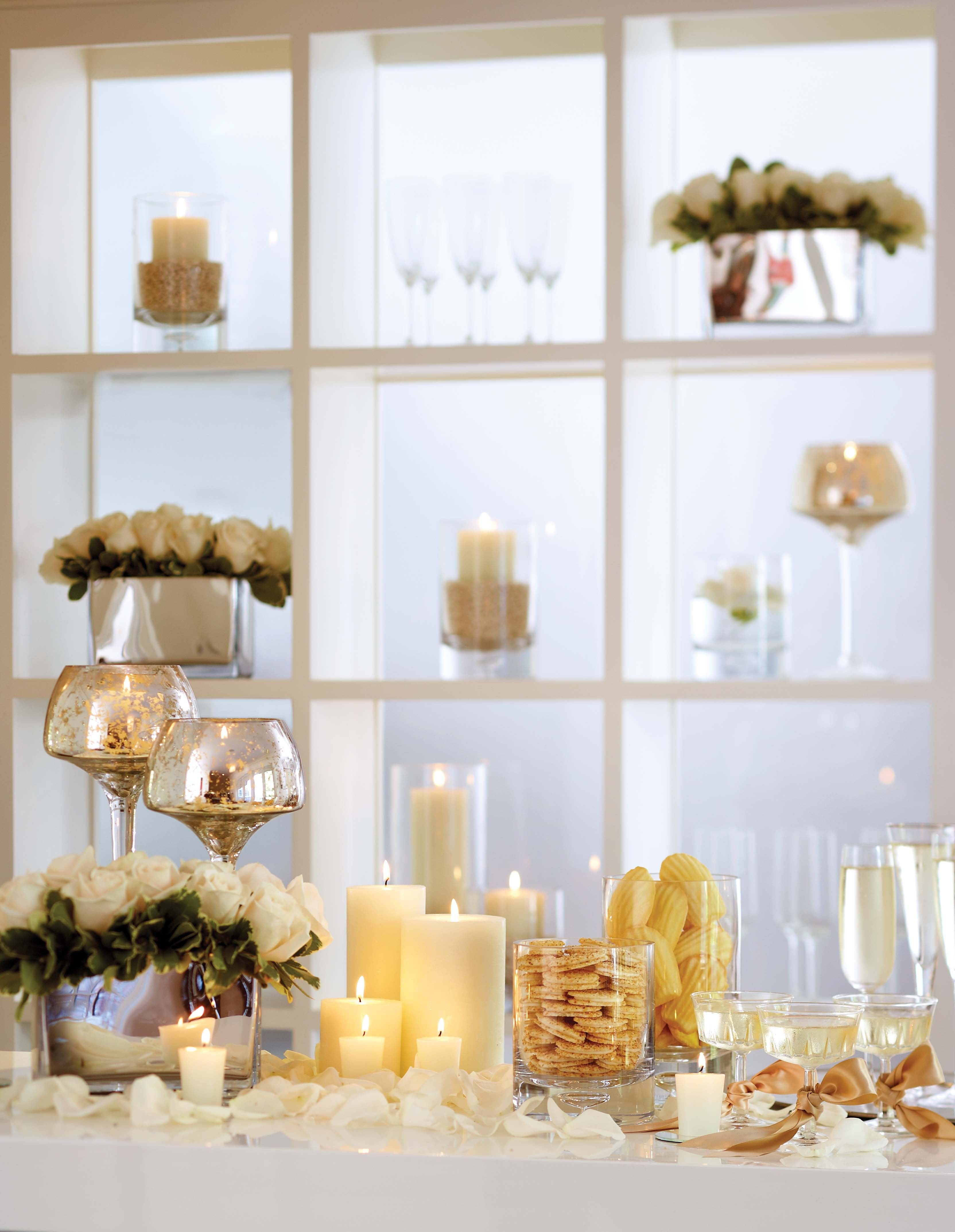 NEW YEAR\'S EVE HOME PARTY DECORATING IDEAS | Decorative candles and ...