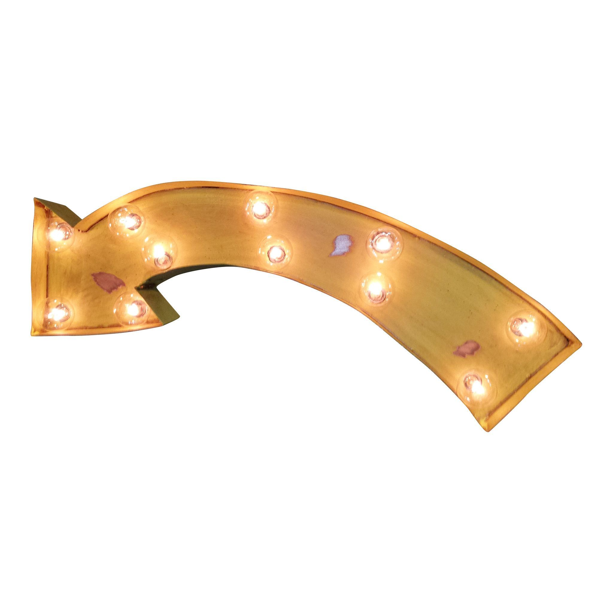 Curved arrow symbol marquee sign light curved arrow arrow symbol curved arrow symbol marquee light from the rusty marquee buycottarizona Choice Image