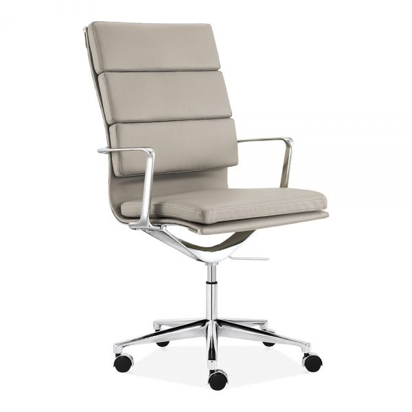 Soft Pad Office Chair With High Back Grey In 2020 Office Chair Teal Desk Chair Contemporary Home Offices