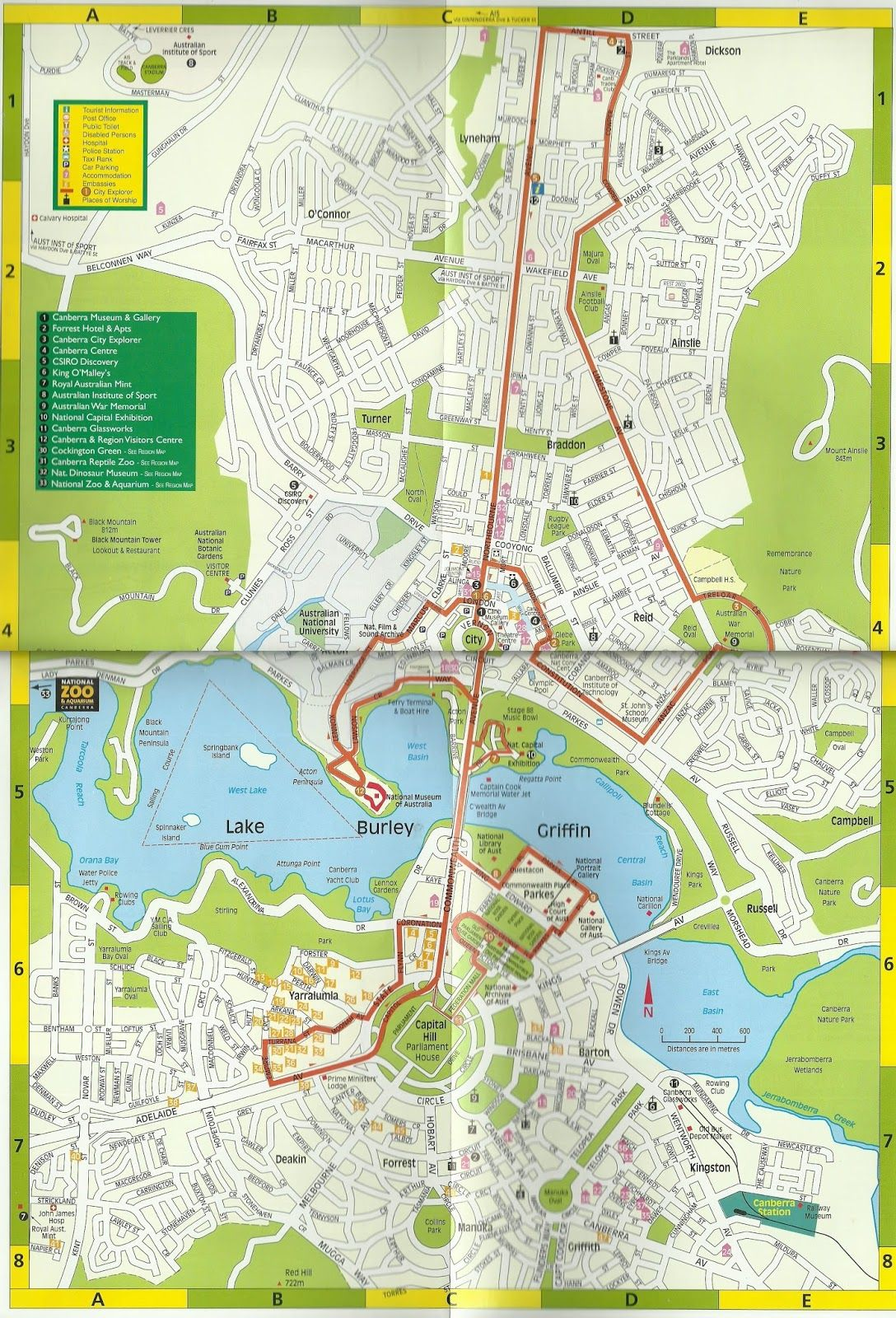 Mapa turstico de canberra australia australia pinterest mapa turstico de canberra australia tourist mapnew southsouth walesperth brisbanemelbourneworld gumiabroncs Images