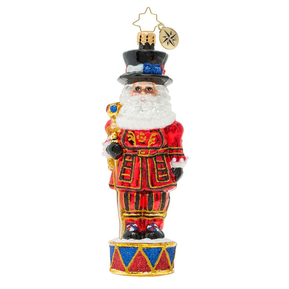 Christopher Radko Ornaments Royal Beefeater Santa Guard Ornament 1019847 Christopher Radko Ornaments Radko Ornaments Christopher Radko