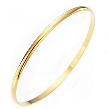 Stackable Yellow Gold Bangle |