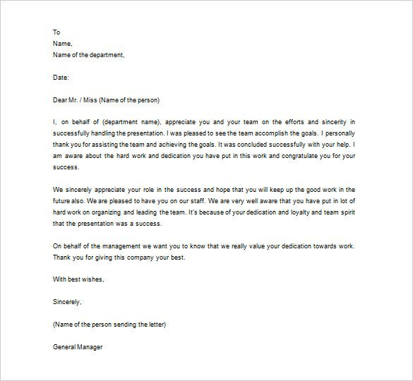thank you letter to employee 10 free word excel pdf format