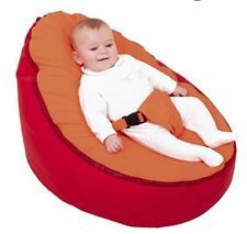 New Baby Bean Bag Stroller Infant Sofa Chair Cover Soft Snuggle Bed With Harness