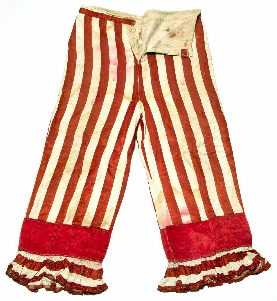 American Clown And Circus Owner Dan Rice Wore These Striped Pants In The 1860s From The Hertzberg Circus Collectio Clown Pants Quirky Fashion Vintage Outfits
