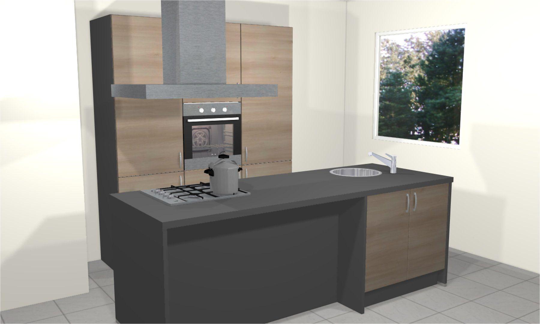 Keuken artego met kookeiland rechts laagste prijs keuken