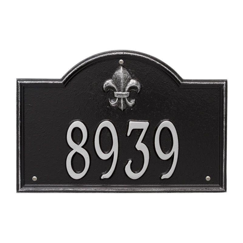 Bayou Vista Address Plaque Wall 1 Line Address Plaque Whitehall Products Whitehall