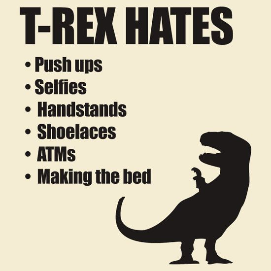 TRex Hates So Many Things Push Ups Selfies Handstands - T rex bed