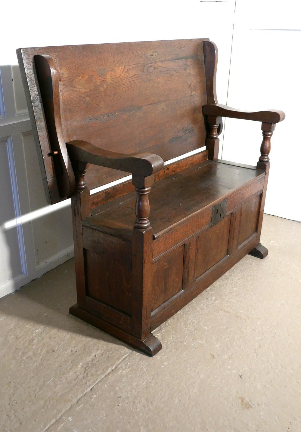 Oak Monks Bench Settle Hall Table Antiques Atlas Monks Bench Hall Table Bench