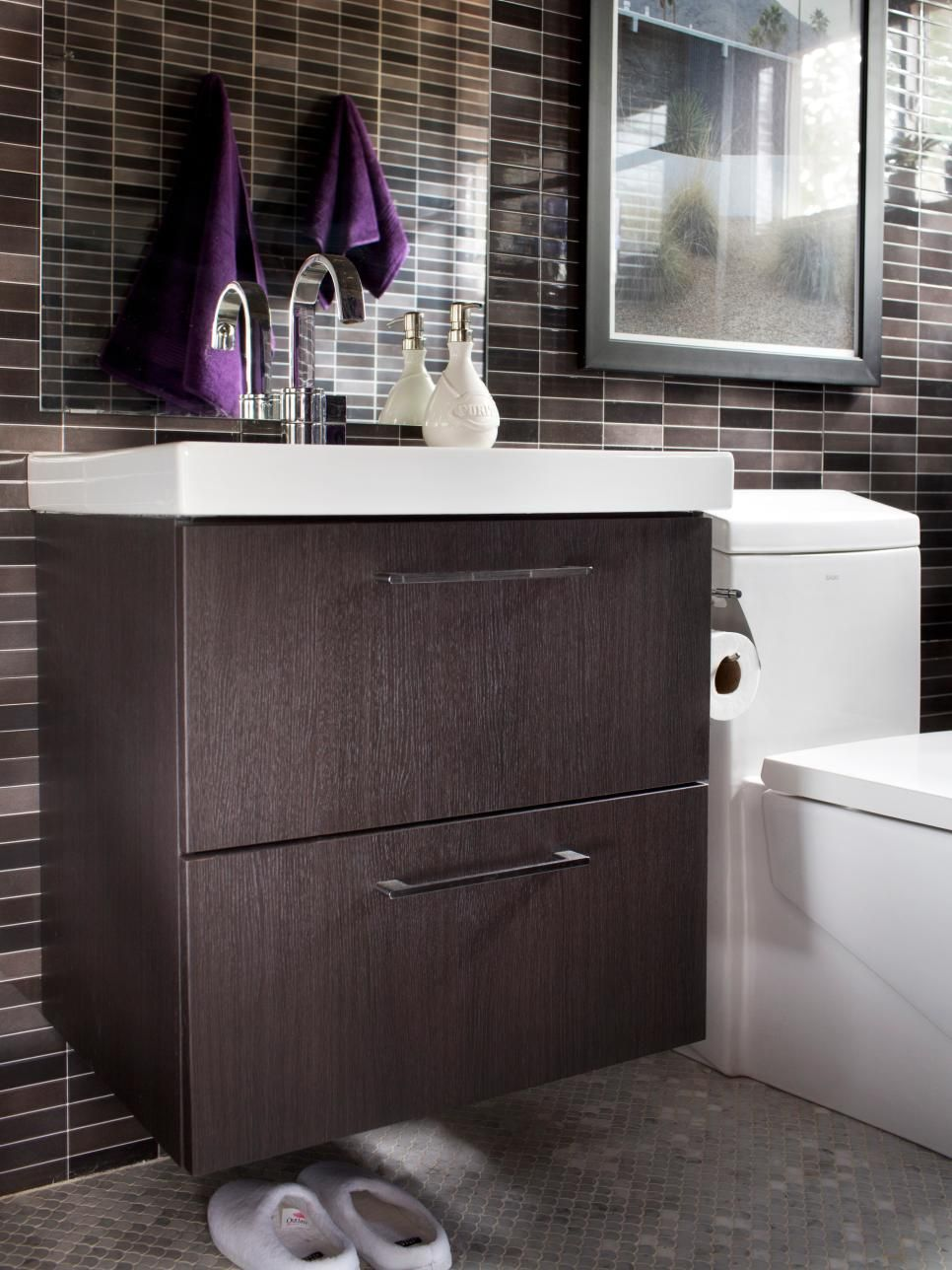 Bathroom Remodeling Design Classy Modern Smallbath Makeover  Palm Springs Upstairs Bathrooms And Decorating Inspiration