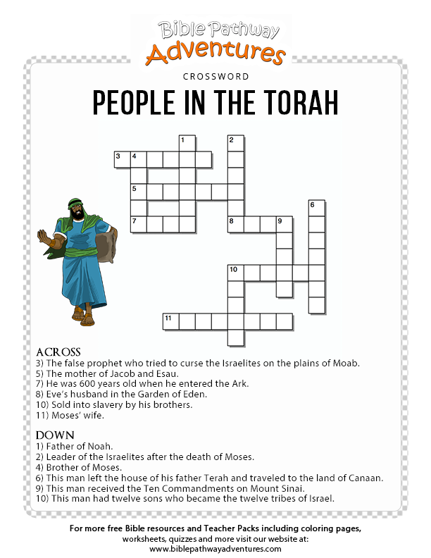 Moses Bible Crossword Puzzle Free Download