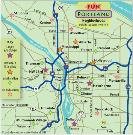 Map of Downtown Portland Oregon | Map of fun Portland Oregon ...
