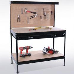 Työkalukaappi ja pöytä, 89,95€ Tämä työpöytä on ihanteellinen apulainen rakenteluun tai säilytystilaksi autotalliin, verstaaseen, askarteluhuoneeseen tai vaikka keittiöön jos neuvottelutaidot siihen riittävät! Ilmainen toimitus! #työkalukaappi
