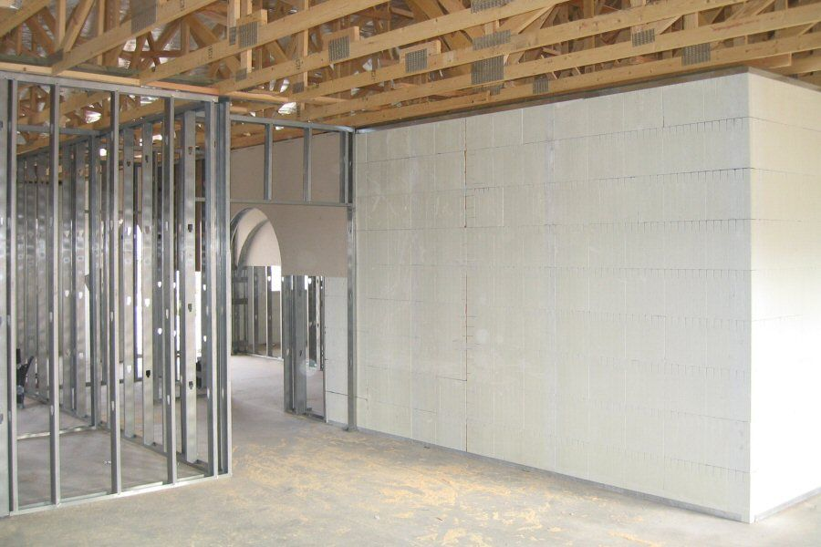Interior Stud Walls In Icf Building Insulated Concrete Forms Concrete Forms Interior Wall Insulation