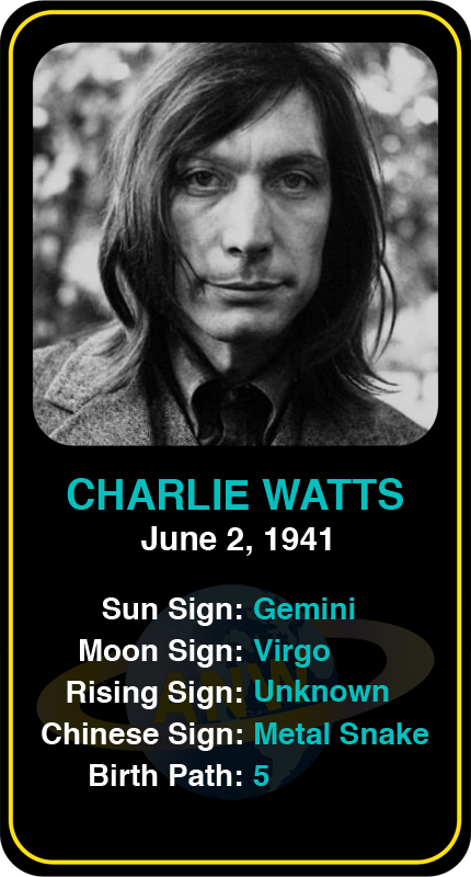 Rolling Stones' Charlie Watts' astrology information #charliewatts #astrology #rollingstones