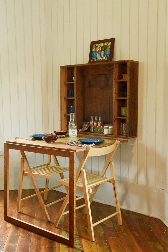 Fold Down Table For Tiny House Folding Or Desk Home Built From Reclaimed Barn Wood Furniture
