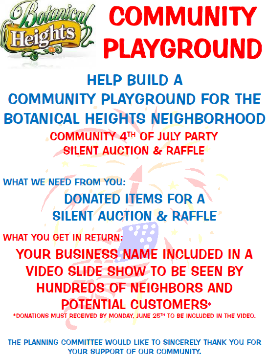 Donate to the Botanical Heights Community Playground ...
