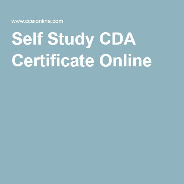 Self Study CDA Certificate Online | fire | Pinterest | Professional ...