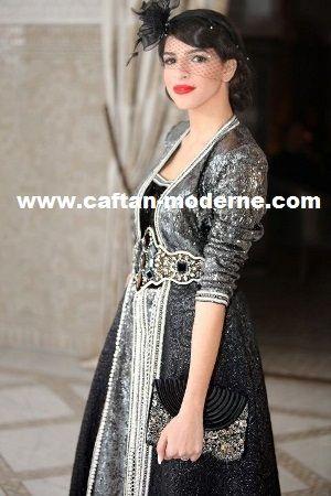 66330917d2c Robes caftan en dentelle avec couleur noir   Caftan   Caftan, Robe ...