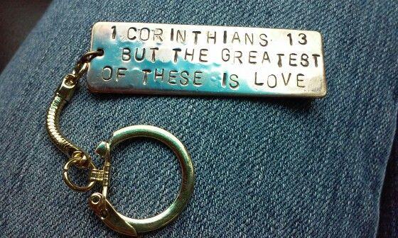FUF by Renee Hong. Stamped key chain. 11/11/15.